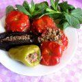 фаршированные перцы баклажаны помидоры долма рецепт