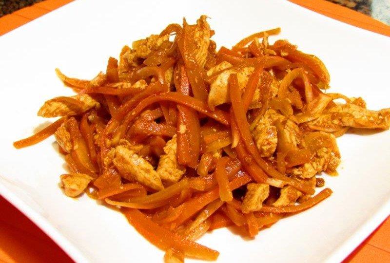 корейская морковь с курицей рецпт